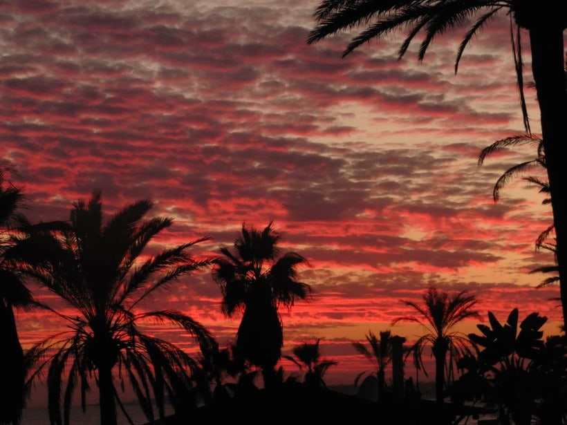 Glorious sunsets – Marbella Town seascapes