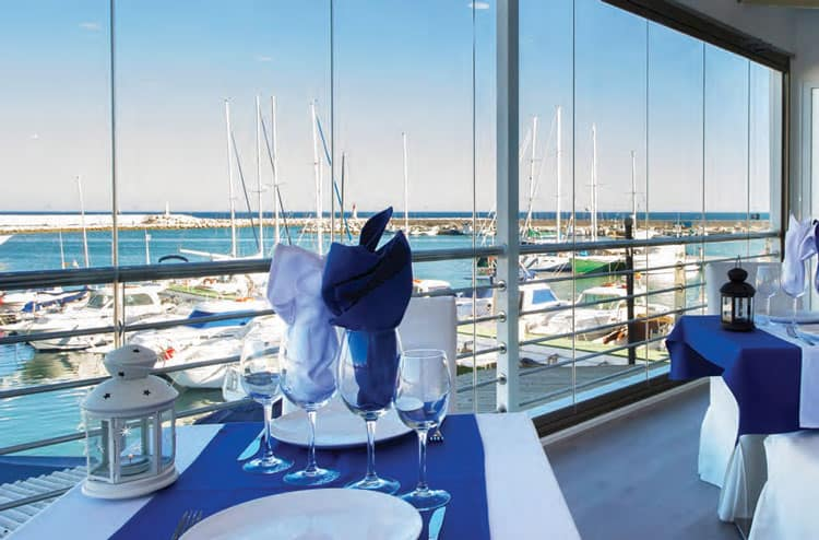 Mediterranean Dining Overlooking Estepona Marina
