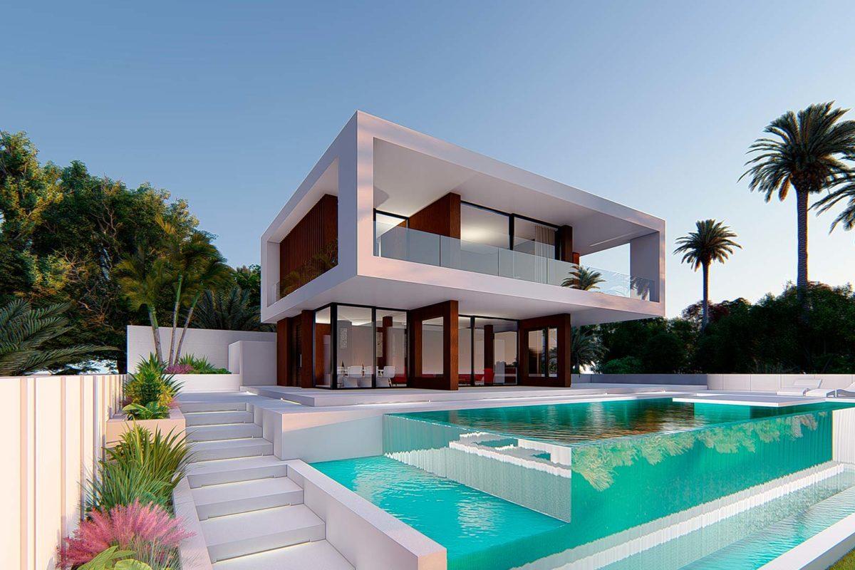 Pool-facade